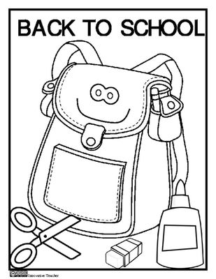Back To School Coloring Page FREEBIE from Innovative Teacher on TeachersNotebook.com -  (1 page)  - Add this fun coloring page to your Back To School Activities. Enjoy!