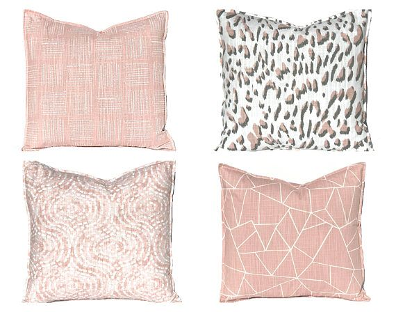 Blush Pink Pillow Covers - Throw Pillow Covers - Blush Pink Bedding - Bedroom Decor