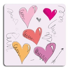 Hjärtan  http://www.barndekor.se/products/barntavla-hjartan