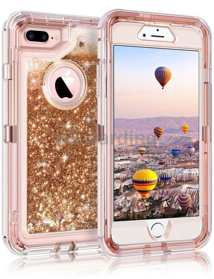 timeless design b215e 9cb14 Shockproof Defender Glitter heart Liquid Case Fit Otterbox iPhone 6 ...