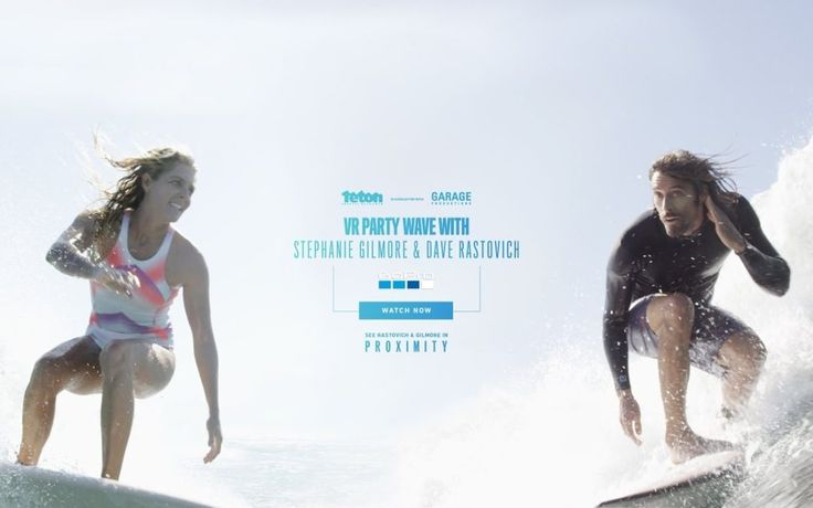 Stephanie Gilmore and Dave Rastovich the Perfect Wave in Mexico - Thumbs up Birds    eton Gravity Research is pairing up with Garage Productions to make PROXIMITY. A film by Taylor Steele following some of today's best surfers.  Here is a segment of Stephanie Gilmore and Dave Rastovich surfing with grace and unison, while still showing their own styles.