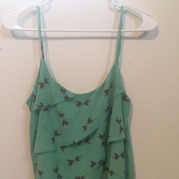 NWOT My Michelle teal and brown top. Teal top with brown birds, never worn.  Got it as a gift but it's too big for me :( looked online and it retails for $19.99. My Michelle Tops Tank Tops