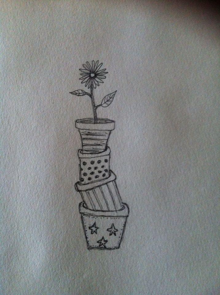 Blomst i potter - flower in pots