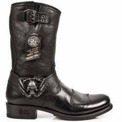 M.gy07-s1 NEW ROCK BOTTES MOTO HOMME M.GY07-S1 Boutique Chaussures Mode
