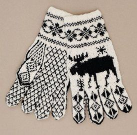 Moose at Sundown Gloves - Media - Knitting Daily