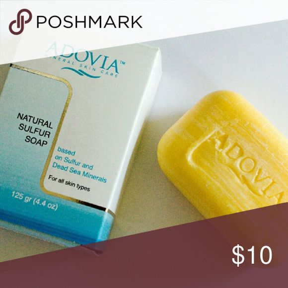 • Adovia Sulfur Soap • Adovia Sulfur Soap based on Sulfur & Dead Sea Minerals. Great for all skin types! Used only once on face - practically looks new! Very good for problematic skin. Adovia Makeup Face Primer