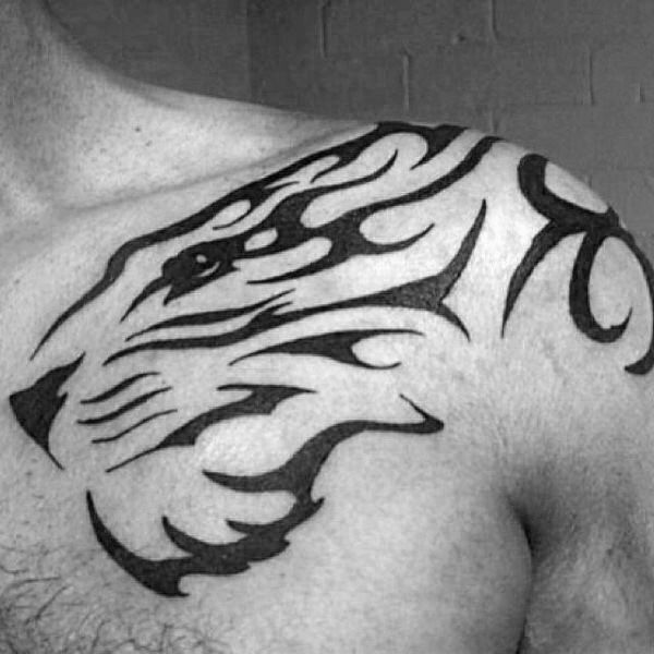 40 Tribal Tiger Tattoo Designs For Men Big Cat Ink Ideas Tribal Tiger Tattoo Tiger Tattoo Design Tribal Shoulder Tattoos