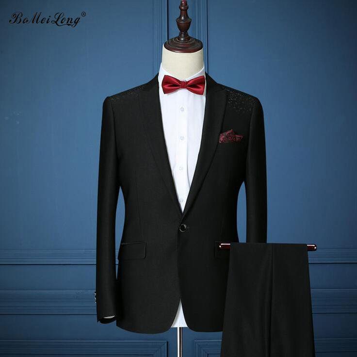 New 2016 Men Suits Blazer Business Formal Men Suits Shoulder Appliques Tuxedos Wedding Suit For Men Dinner Jackets With Pants