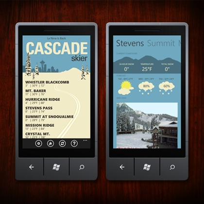 If you're a skier in the Pacific North-West and you have a Windows Phone, you have to have this.
