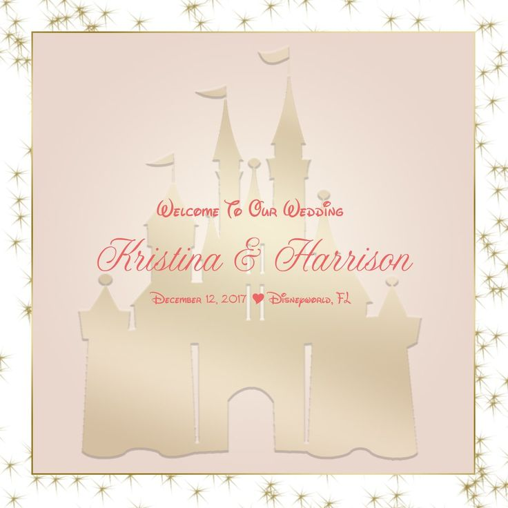Disney Castle Welcome Bag labels for hotel guests hospitality gift bags wedding favors #bestwelcomebags #disneywedding #cinderella