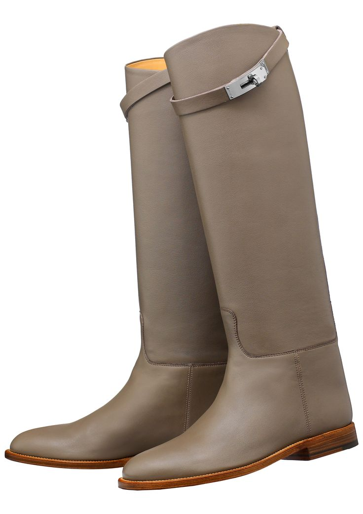 sleek riding boots by Hermes