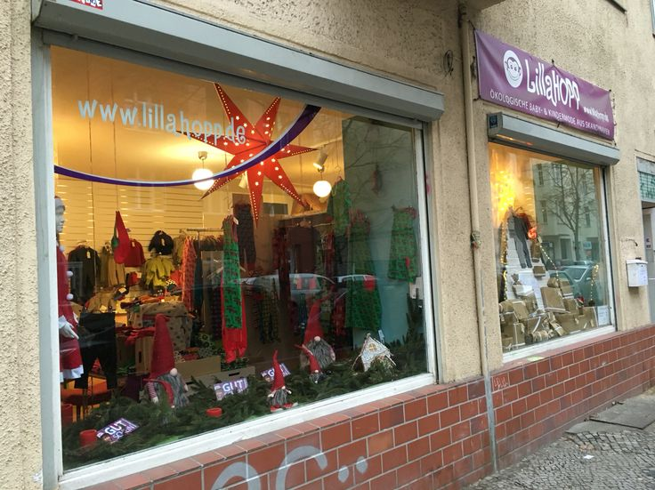 Christmas decoration in our shop windows!