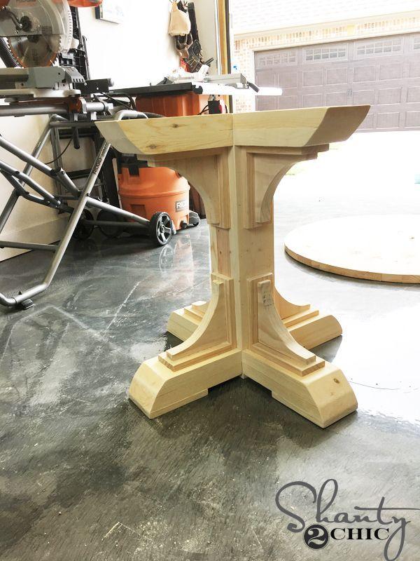 Image Result For 4x4 Pedestal Table Base Wood Table Bases Diy Kitchen Table Wood Table Legs