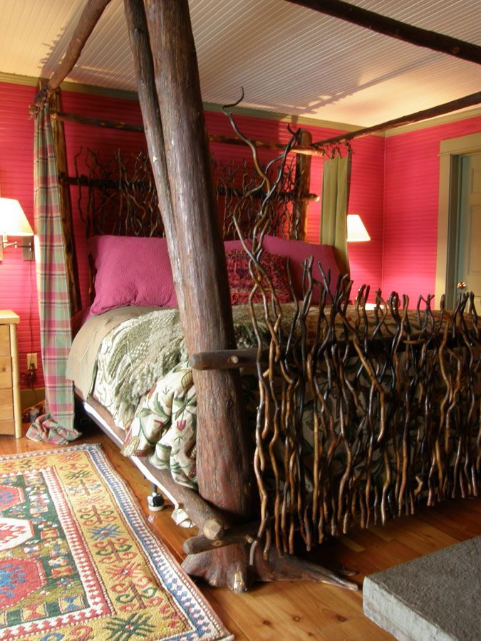 Twig Bed By Bald Mountain Rustics   I Like The Twig Head/footboard, But
