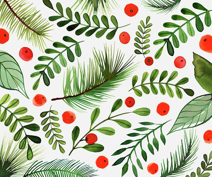 Margaret Berg Art: Berries,+Holly+&+Pine