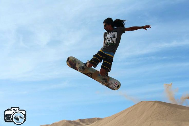 Jose Martínez, el rey de las dunas: primer lugar tanto en slalom como en big air!
