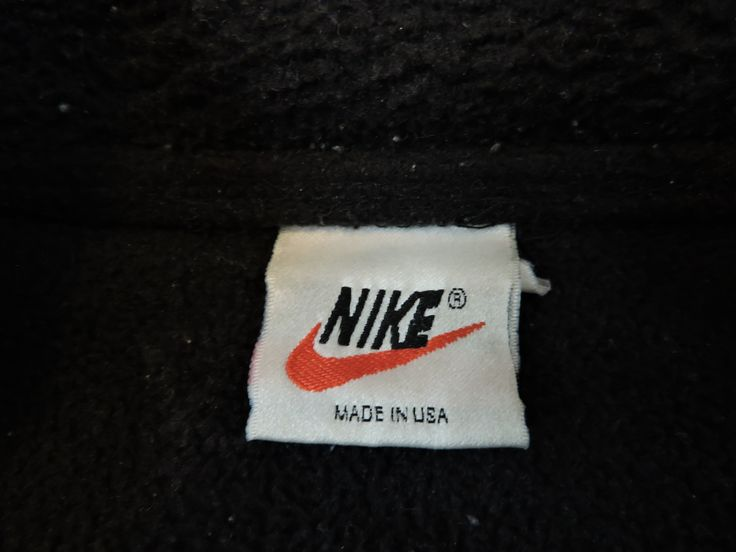 Vintage Nike Black Fleece Jacket #nike #vintagestyle #vintagenike #madeinusa #fleece
