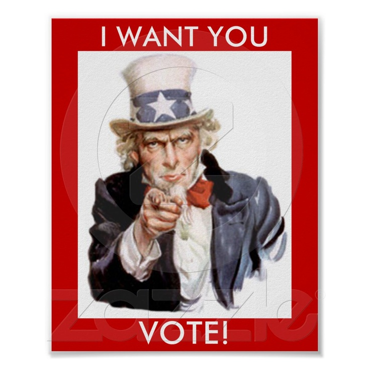 Vote poster, uncle sam poster | Student council posters