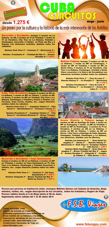 Disfruta de los mejores circuitos en Cuba Mayo y Junio desde 1275€ ultimo minuto - http://zocotours.com/disfruta-de-los-mejores-circuitos-en-cuba-mayo-y-junio-desde-1275e-ultimo-minuto/