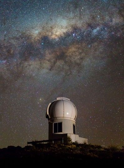 The SkyMapper telescope seen under the Milky Way at the Siding Spring Observatory near Coonabarabran, New South Wales, Australia.