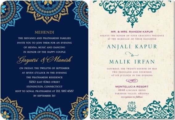 Top Indian Wedding Invitation Cards   21st - Bridal World - Wedding Ideas and Trends