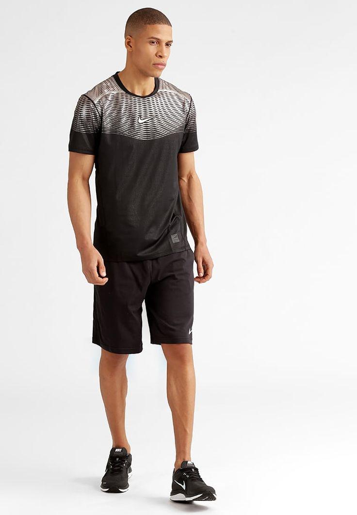 Nike Performance PRO HYPERCOOL MAX Print T shirt noirargenté Zalando