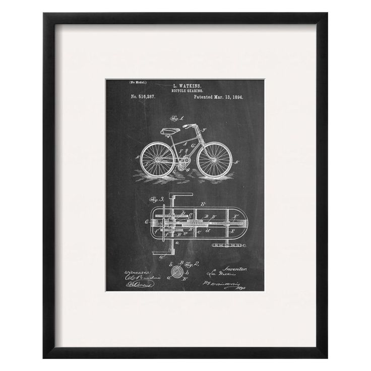 Bicycle Gearing Patent Wall Art - 13719953