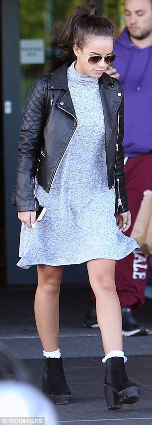 Where's the glitter? Soap stars Georgia May Foote (left) and Kellie Bright (right) looked casual following a weekend of Strictly - as they left their hotel on Sunday