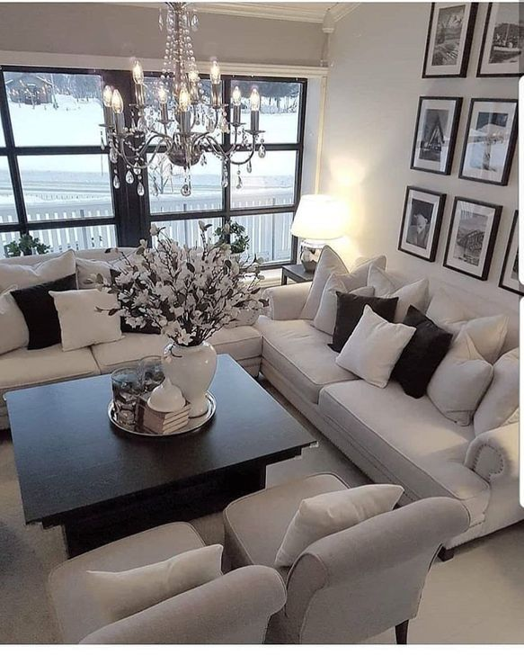 30+ Marvelous Living Room Ideas With Black And White Style