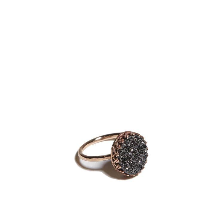 Druzy Ring // Black