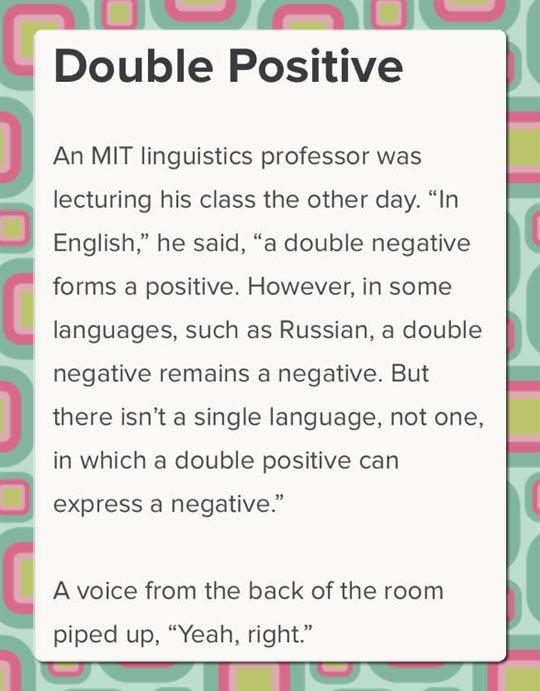 I Speak Fluent English And Sarcasm