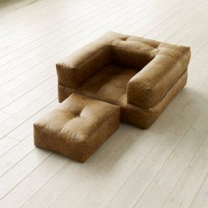 Cube, sofastol i vintage læderlook
