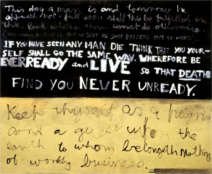 Colin McCahon This Day a Man Is