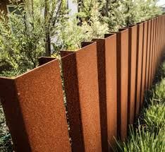Image result for corten steel fence posts