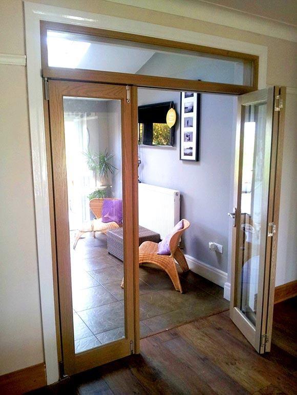Two Open Doors Of The Vufold Inspire 6ft Internal Room Divider Doors Preston Customer Gallery