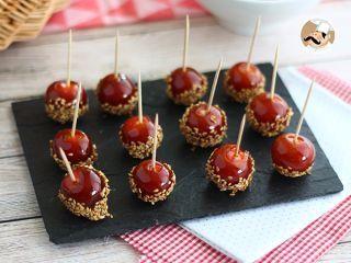Tomates cherry caramelizados con sésamo - Receta Petitchef