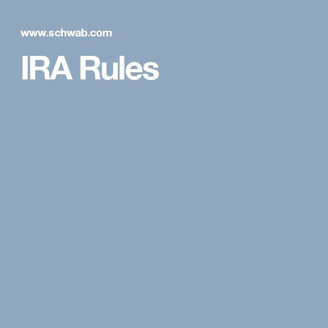 IRA Rules