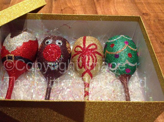 Christmas Glitter Wine Glass by GlitterStudio97 on Etsy