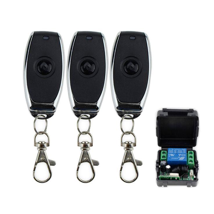 DC12V 1CH 315 MHz sans fil métal commutateur de commande à distance avec télécommande récepteur pour contrôler serrure électrique 1/2/3 émetteurs + 1 module