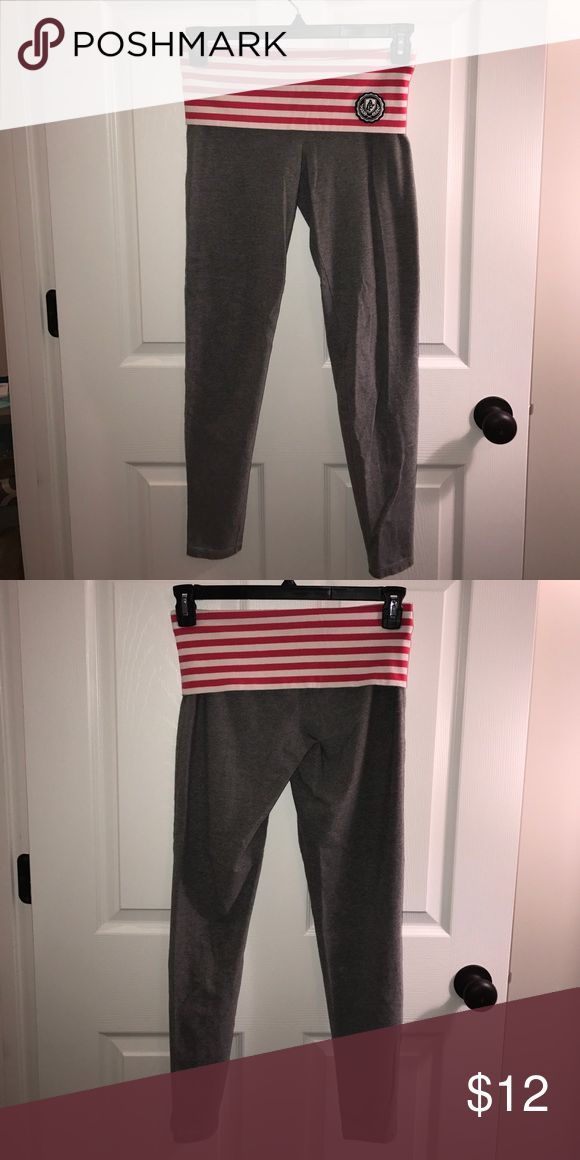 Abercrombie and Fitch yoga pants A&F  yoga pants. Size: medium. Color gray. Great condition. No holes or stains. Barely worn. Smoke free home. Never dried in the dryer. Abercrombie & Fitch Pants Leggings