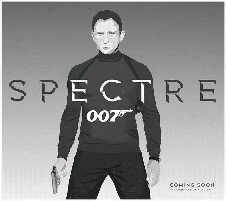 James Bond Spectre by Christian Csikos   #beautiful #graphicdesign #photoshop #illustrator #vector #graphic #jamesbond #007  #movie #cinema