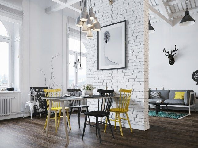 3 muro de carga, separación, comedor decoratualma loft pisos pequeños