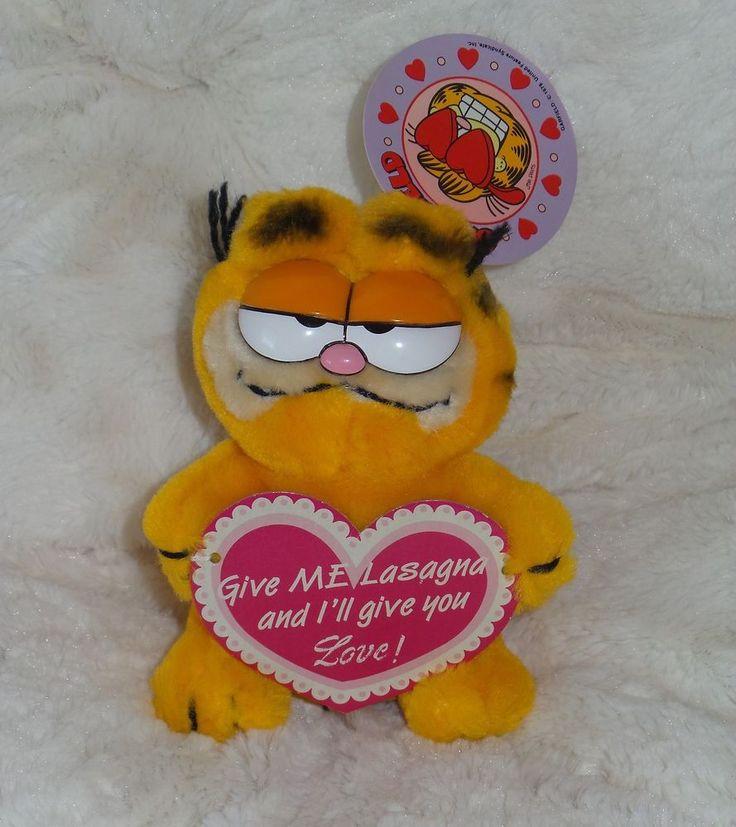"Garfield ""Give Me Lasagna And I'll Give You Love!"" 5"" Plush W/ Tag - Dakin"