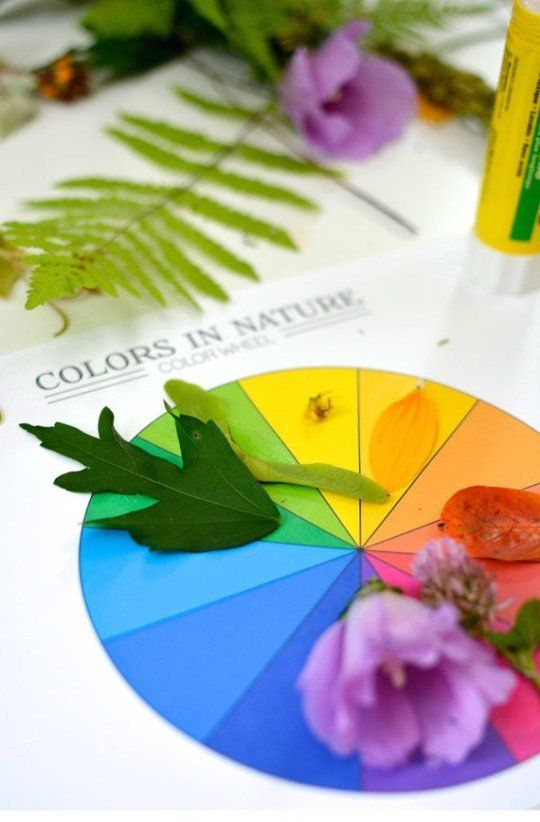 Outside with Kids: 15 Ways to Play with Nature- Learn the colors in nature!