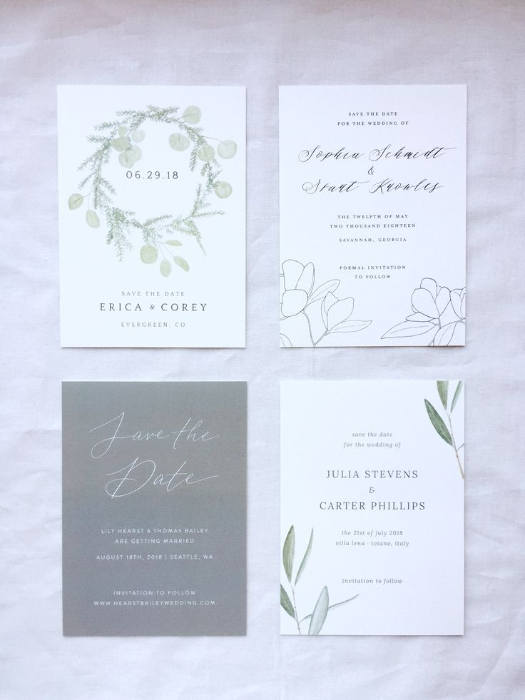 amy zhang creative | semi-custom save the date designs | save the date inspiration | illustrated save the dates | olive branch wedding stationery | eucalpytus wreath wedding stationery | modern grey wedding stationery | magnolia wedding stationery