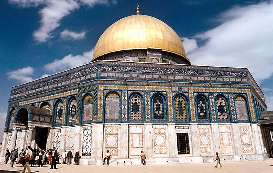 Dome of the Rock completed 691 ce, Jerusalem.