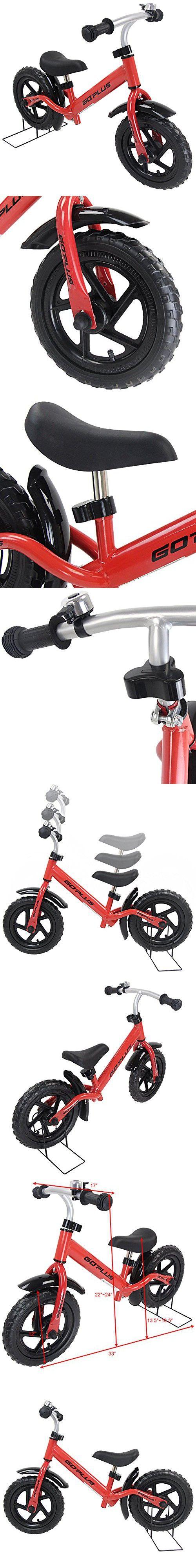 "Goplus 12"" Kids Balance Bike No Pedal Learn To Ride Pre Bike Push Walking"