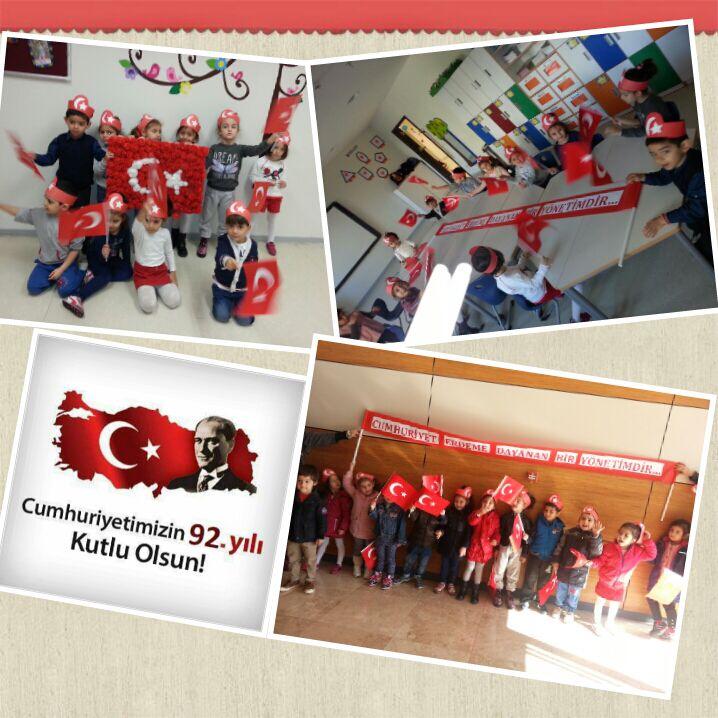 5 yaş grubu 29 Ekim Cumhuriyet Bayramı Şenliği