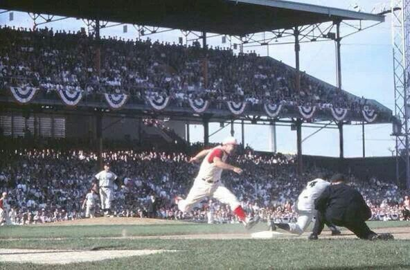 Rare color shot of Crosley Field during the 1961 World Series