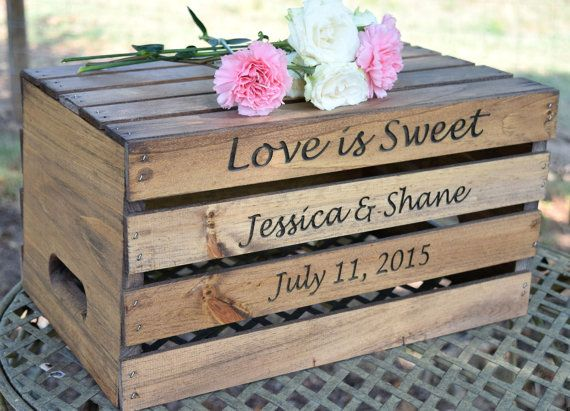 Rustic Wedding Cake Stand Rustic Crate by CountryBarnBabe on Etsy